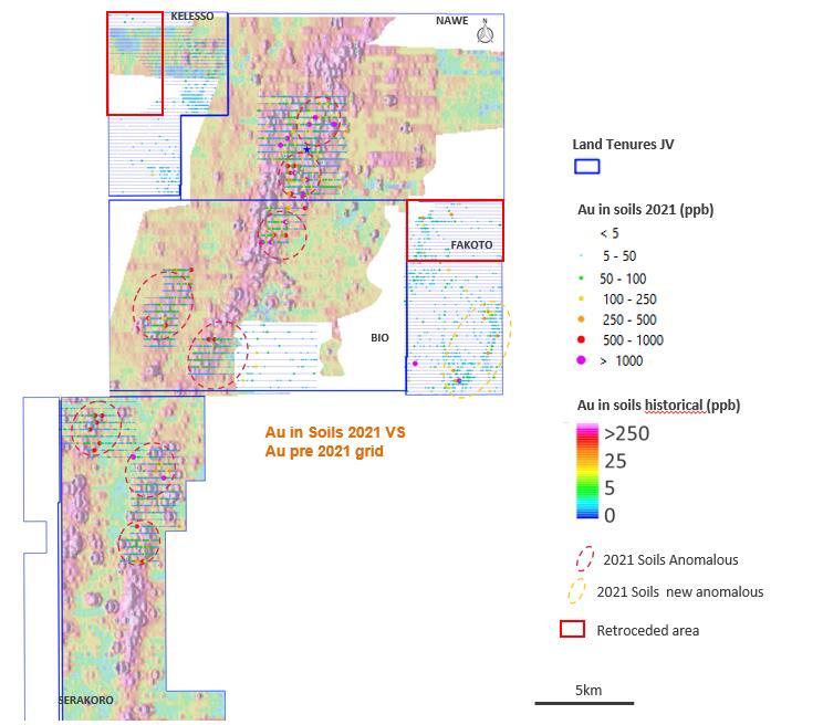 Karankasso Project Au-in-soil map